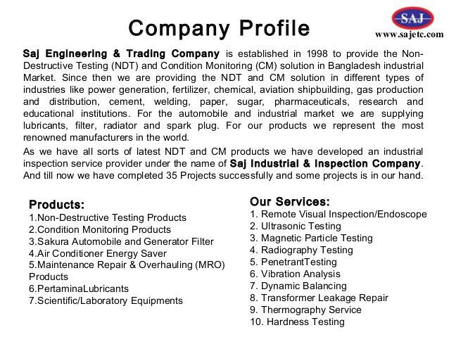 company business profile sample node2004resumetemplate