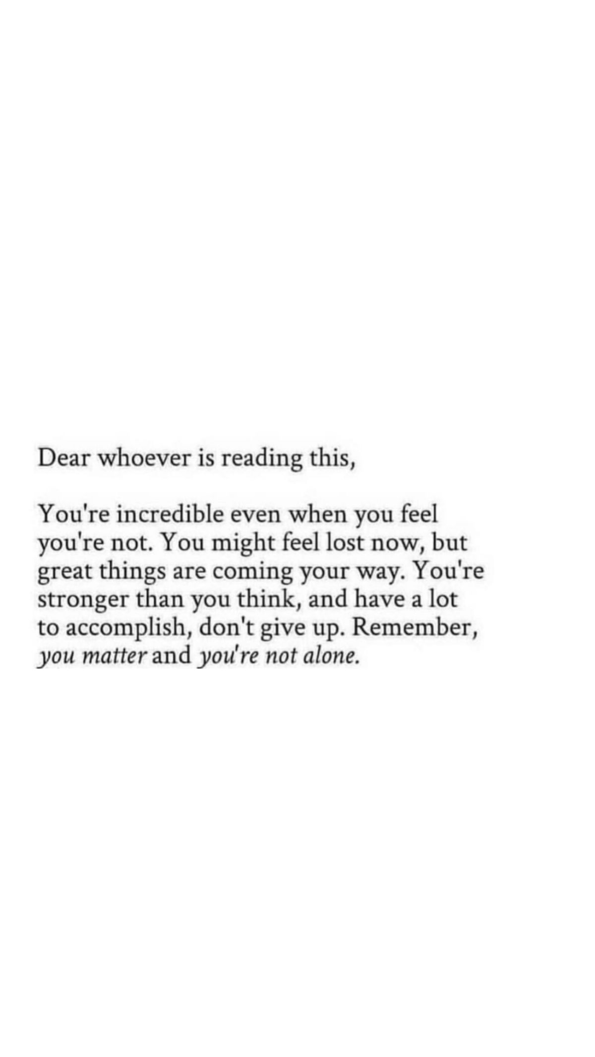 You are Incredible.