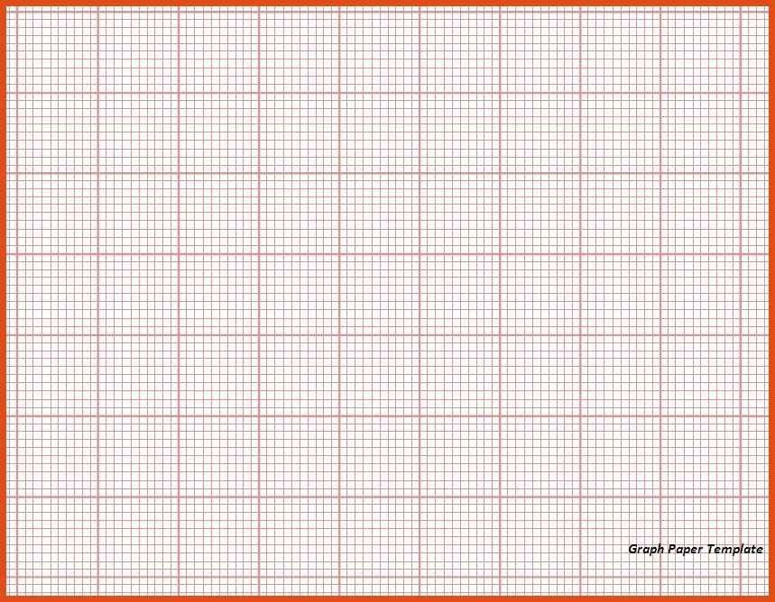 Excel Graph Paper Template