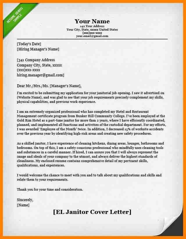 ... Sample Custodian Resume Download Custodian Resume Sample   Custodian Cover  Letters ...  Janitorial Cover Letter