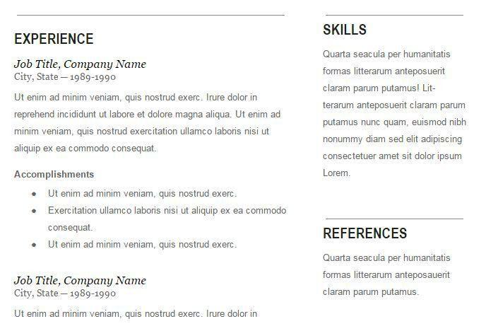 Free Resume Templates Google Docs 20 useful free google docs - resume templates google drive