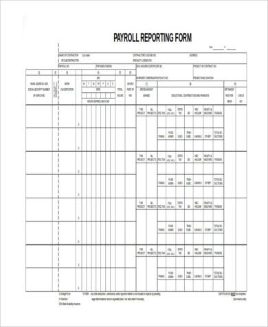 Free Printable Payroll Forms Payroll Template Free Employee - certified payroll form