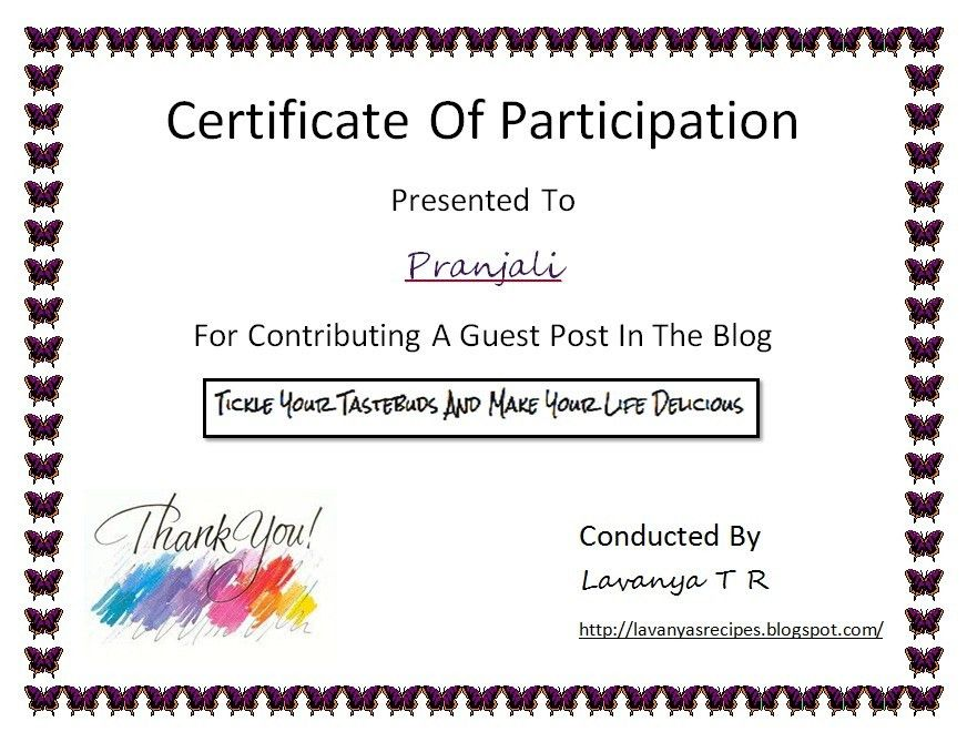 certificate of participation template templatebillybullock - certificate of participation free template