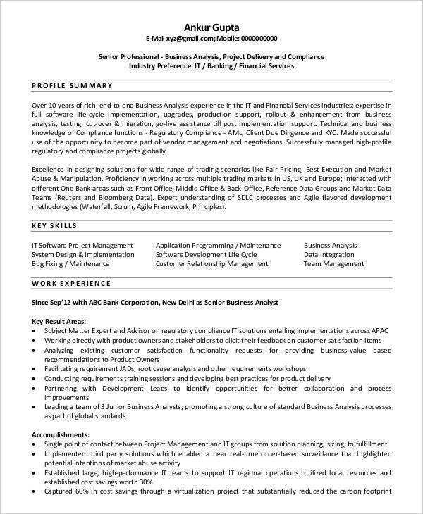 Agile Business Analyst Sample Resume Business Analyst Sample Resume Page 1 Project Management Bunch Ideas Of Agile Business Analyst Sample Resume On Example Bunch Ideas Of Agile Business Analyst Sample Resume On