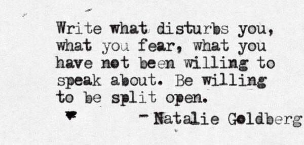 Write your truth. #amwriting