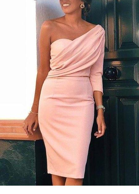 A very nice light pink classy dress