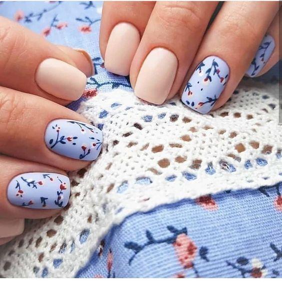 I love this floral nail print