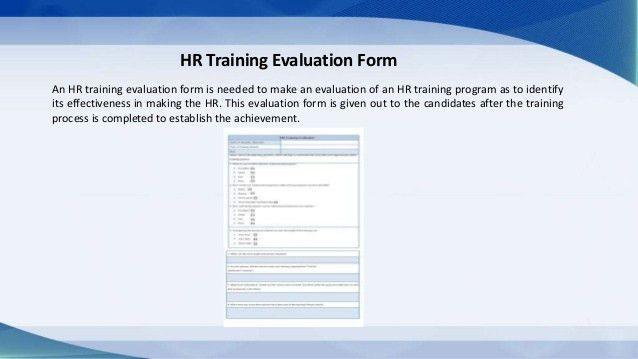 Training Form Sample Training Evaluation Form 15 Download Free - hr evaluation form