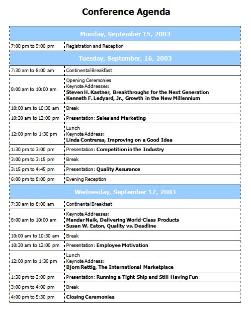 Best Agenda Template Meeting Agenda Template 46 Free Word Pdf - conference schedule template