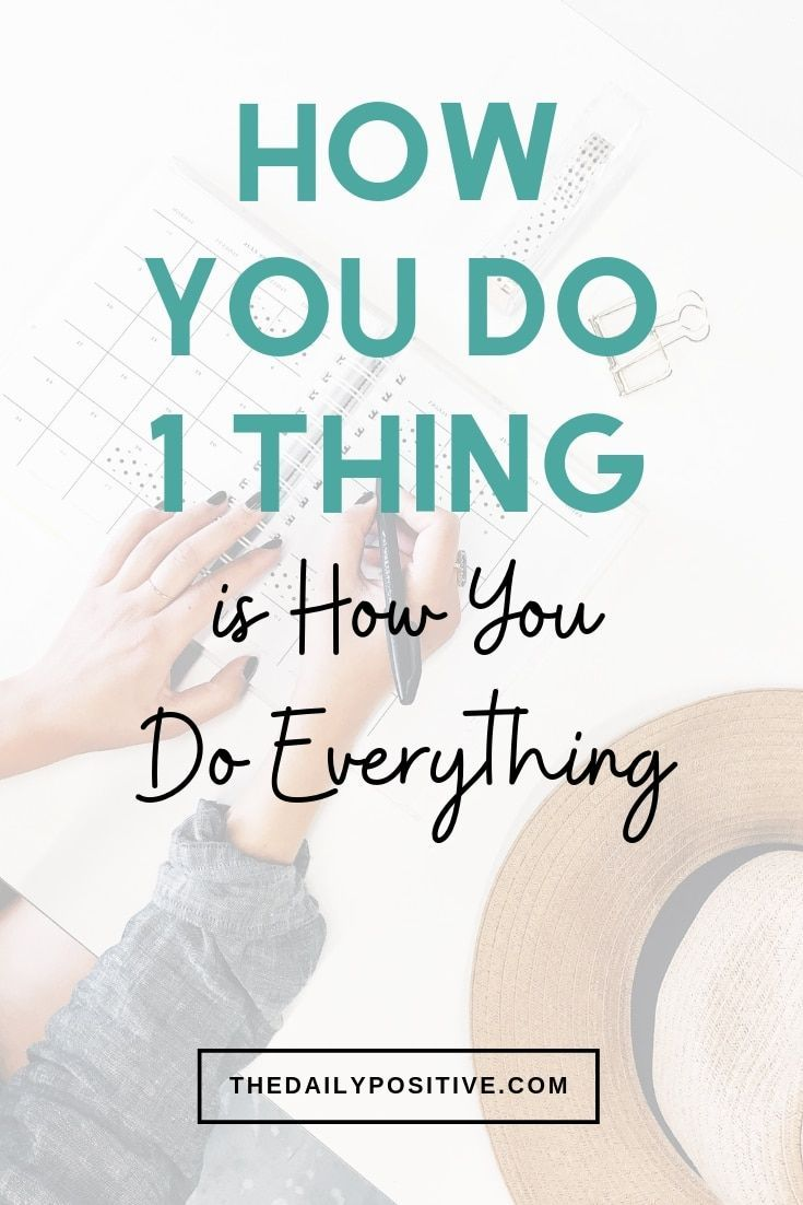 Breaking Patterns - How You Do 1 Thing is How You Do Everything