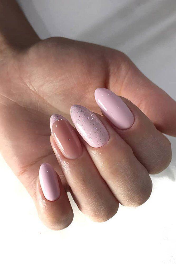 30 Wow Wedding Nail Ideas ❤ nail ideas shiny pink with french style design zakazama_nails #weddingforward #wedding #bride #bridalnails #nailideas