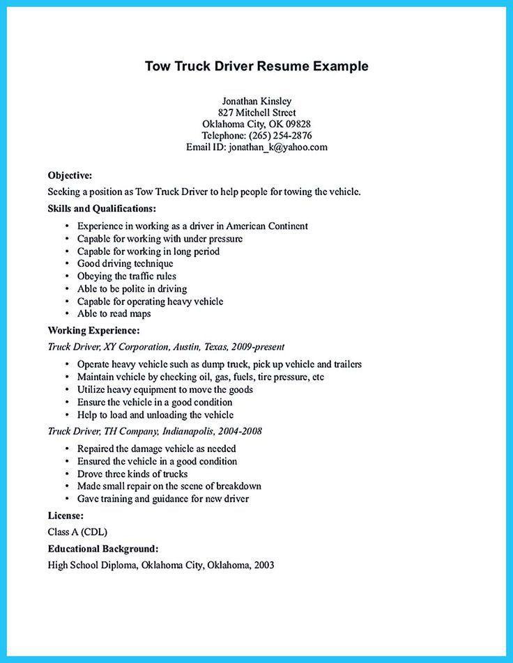 truck driver job description for resume node494 cvresume cloud