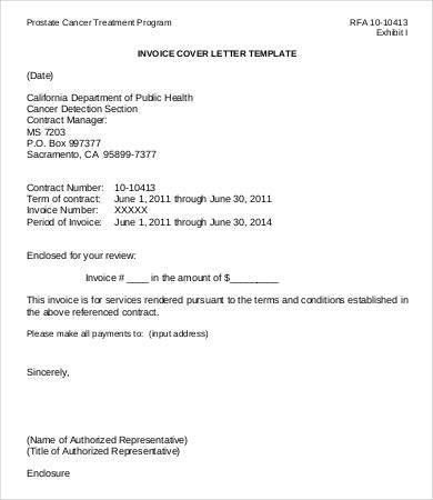 Invoice Cover Letter Letter To Customer Invoice Attached Template - free sample cover letters