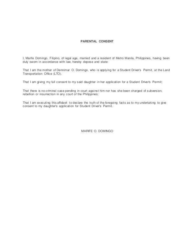 Parents Consent Letter For Work Parental Consent Letter Template - parent consent forms