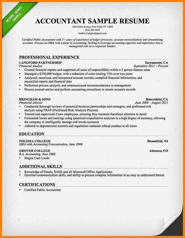 Cpa Resume Sample Writing Guide Genius