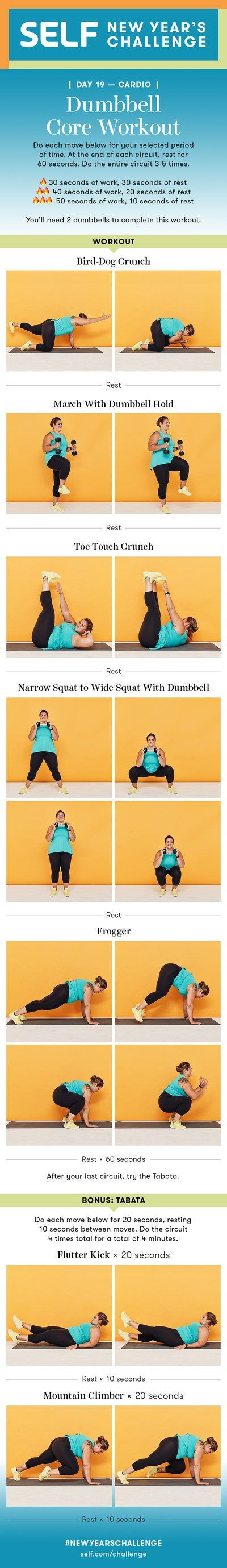 Dumbbell Abs Cardio Workout