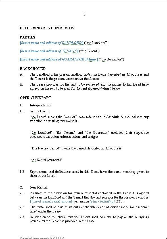 Lease Document Template Lease Agreement Template Free Word - lease renewal form