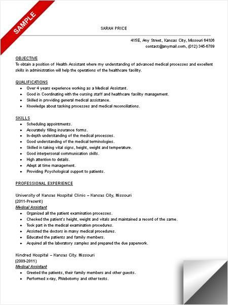 16 free medical assistant resume templates - medical assistant resume template free