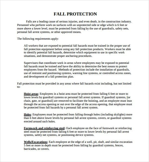 Personal Development Plan Template Word Sample Personal - fall protection plan template