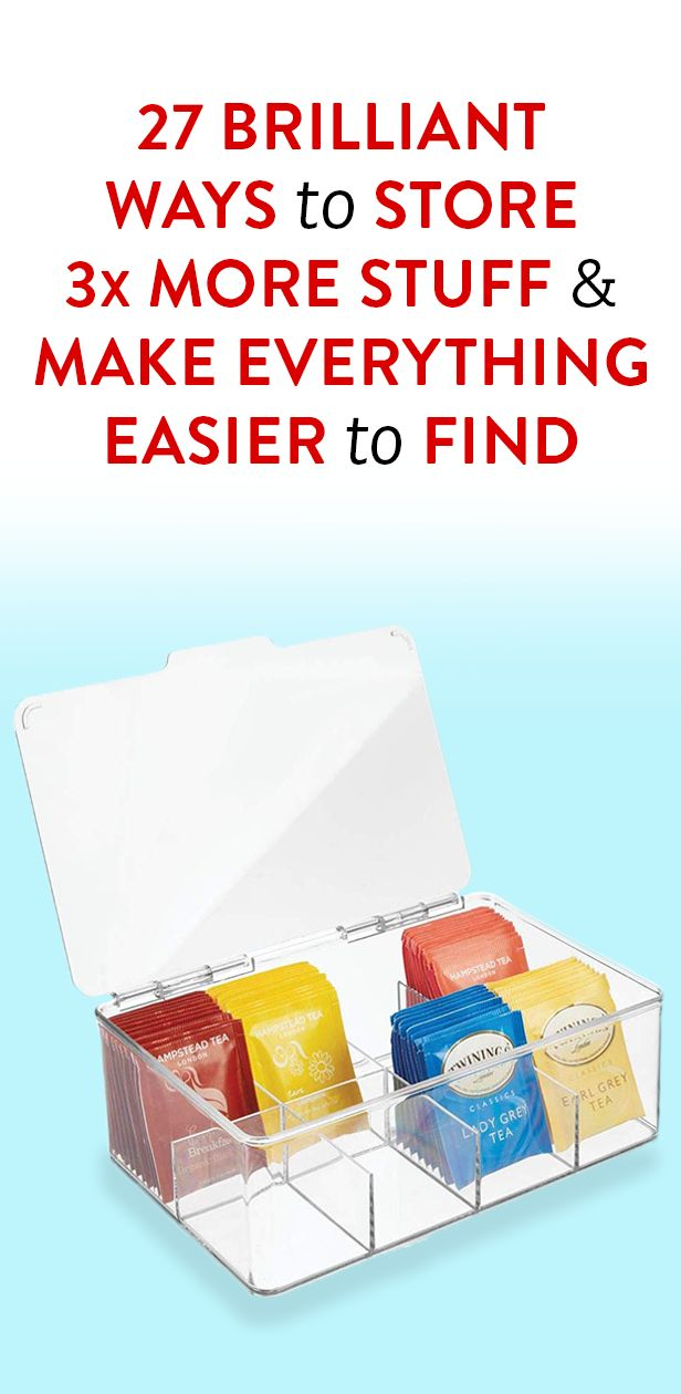 27 Brilliant Ways To Store 3x More Stuff & Make Everything Easier To Find