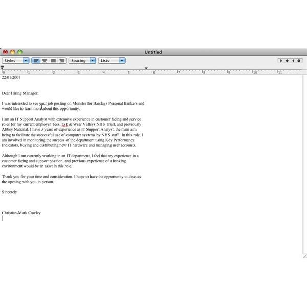 Job Covering Letters Cover Letter Examples Template Samples - free cover letter creator