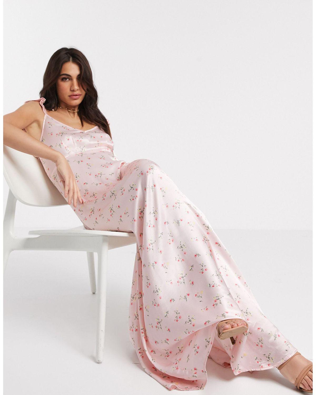 Ditsy Floral Print Bridesmaid Dress