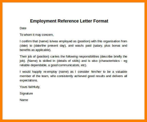 Format Letter Of Reference Reference Letter Template 37 Free - landlord reference letter