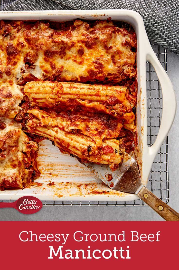 Cheesy, beefy manicotti really hits the spot when you need a comforting meal to cheer you up after a long day. The best part? It takes under an hour to prep.
