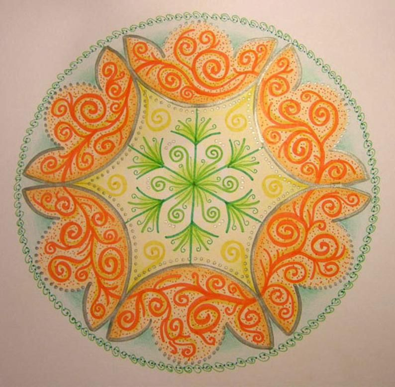 Blooming Mandala original | Etsy