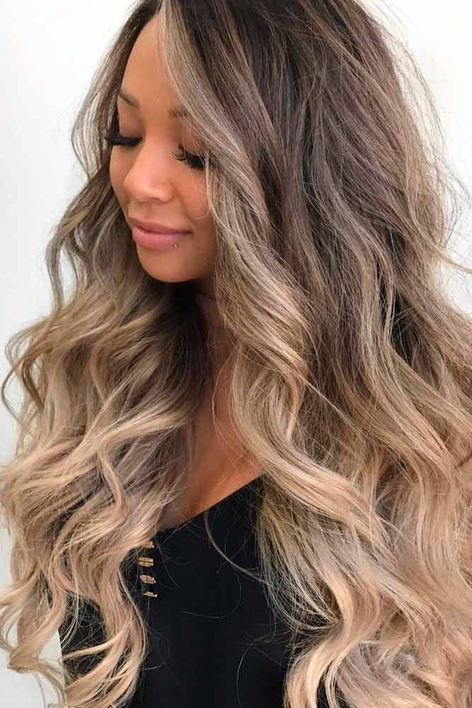 Layered Wavy Locks With Highlights  #curlyhairstyles #ombrehairstyles ★  Easy, cute and fun summer nail designs are waiting for you to get inspired with. Make sure that you greet the beach season right!  #glaminati #lifestyle #longhaircuts