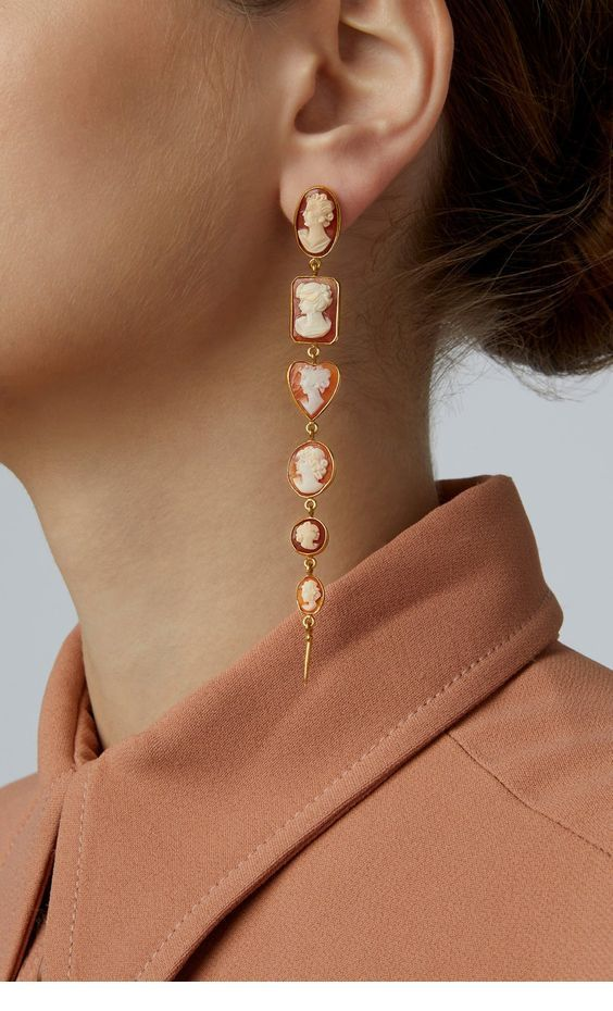 Classy long earrings