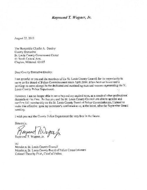 sample board resignation letter