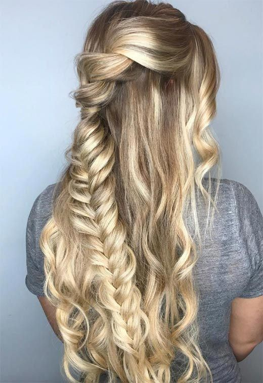 """Long Hair Braids: Braided Hairstyles for Long Hair: Braided Half-Up Hair <a class=""""pintag"""" href=""""/explore/braidedhairstylesart/"""" title=""""#braidedhairstylesart explore Pinterest"""">#braidedhairstylesart</a><p><a href=""""http://www.homeinteriordesign.org/2018/02/short-guide-to-interior-decoration.html"""">Short guide to interior decoration</a></p>"""