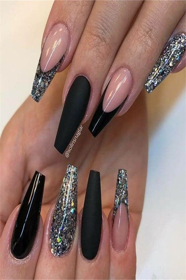 30+ Stylish Coffin Nail Art Designs 2019 – Fashonails