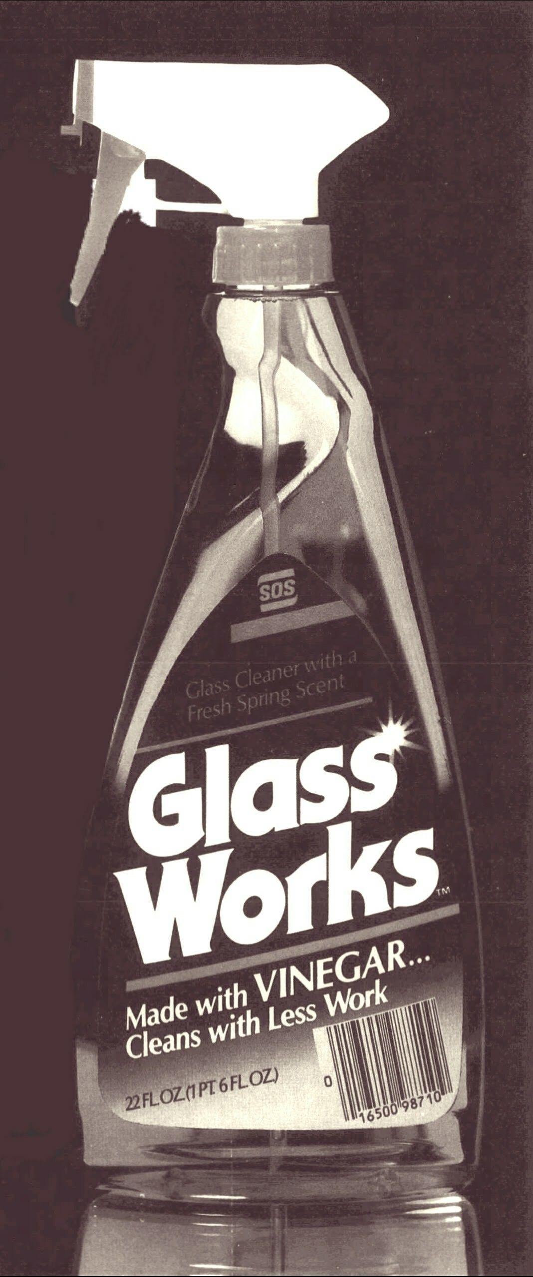 Sos glass works glass cleaner with vinegar vinegar