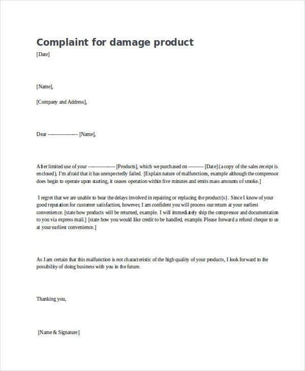 Complaint letter examples resume templateasprovider product complaint letter sample customer complaint letter complaint letter examples spiritdancerdesigns Choice Image