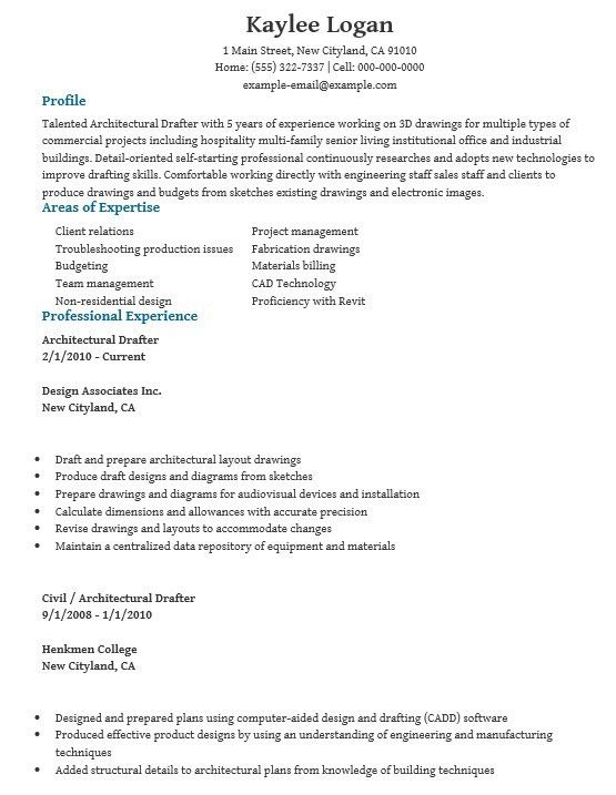 drafting resume examples examples of resumes - Architectural Drafter Resume