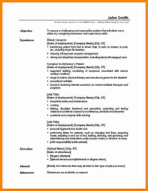 Sample Resume For Caregiver Unforgettable Caregiver Resume - profile examples for resumes