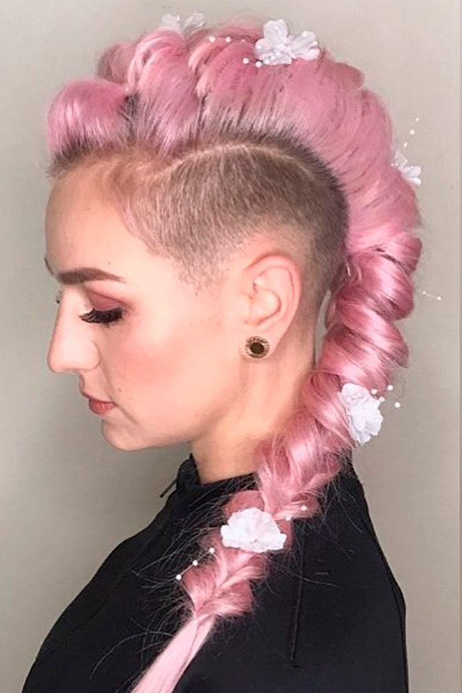Long Pink Hair With Undercut #pinkhair #braidedhairstyles ★  Undercut women hair styles are super daring, and that is why not every babe can pull one off. But if you are an artistic person or a tomboy we are sure that you can sport an undercut. See the trendiest undercuts here. #glaminati #lifestyle #undercutwomen