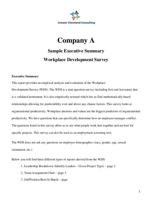 Sample Executive Reports best executive assistant resume example - executive summary format for project report