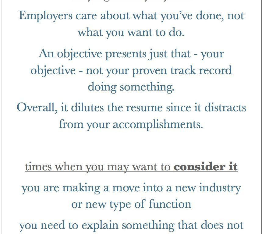 should resumes have an objective resume cv cover letter