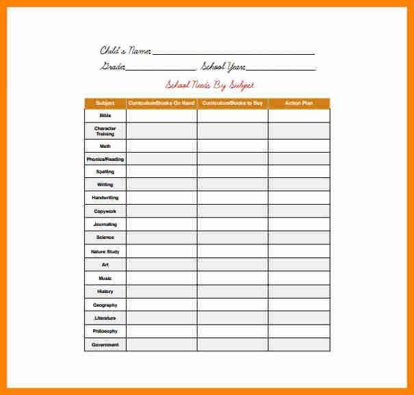 office equipment list template