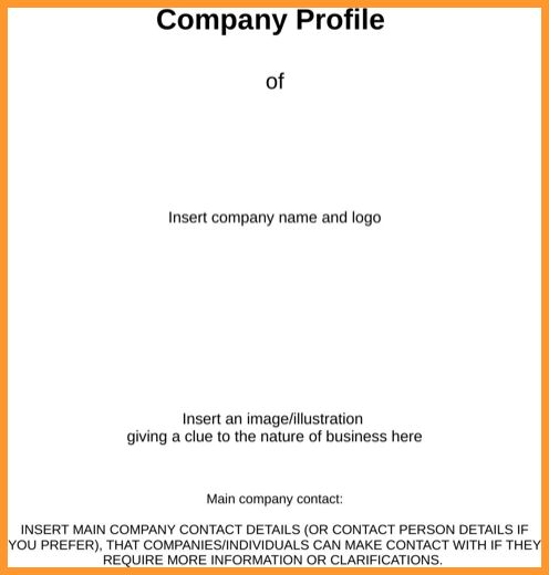 ... Business Profile Format Business Profile Templates Easily Create    Profile Of Company Format ...  Business Profile Format