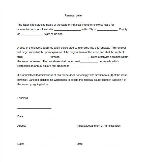 Lease Sample Letter Sample Rental Agreement Letter 7 Documents In - lease template word
