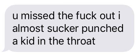 Eli texting rip