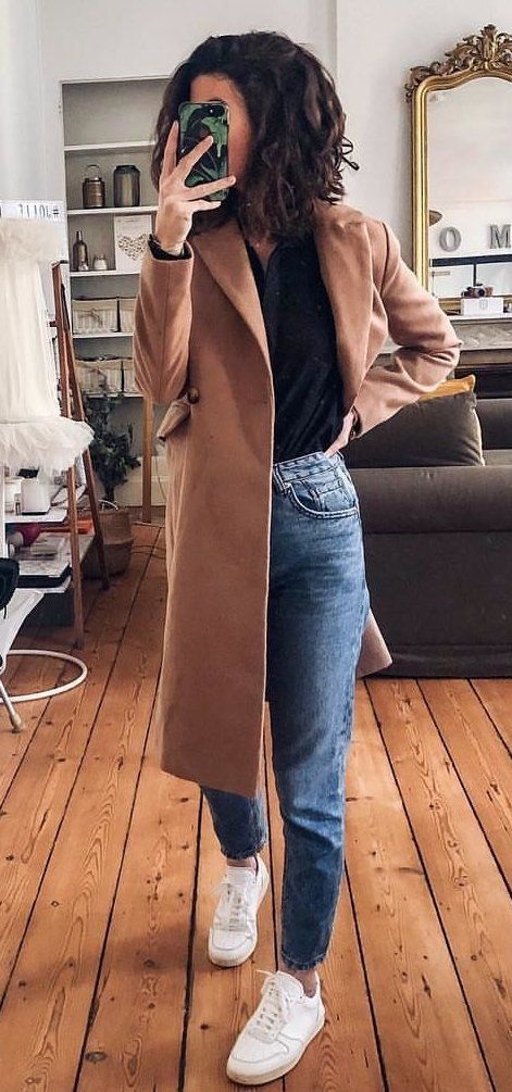 brown coat #summer #outfits
