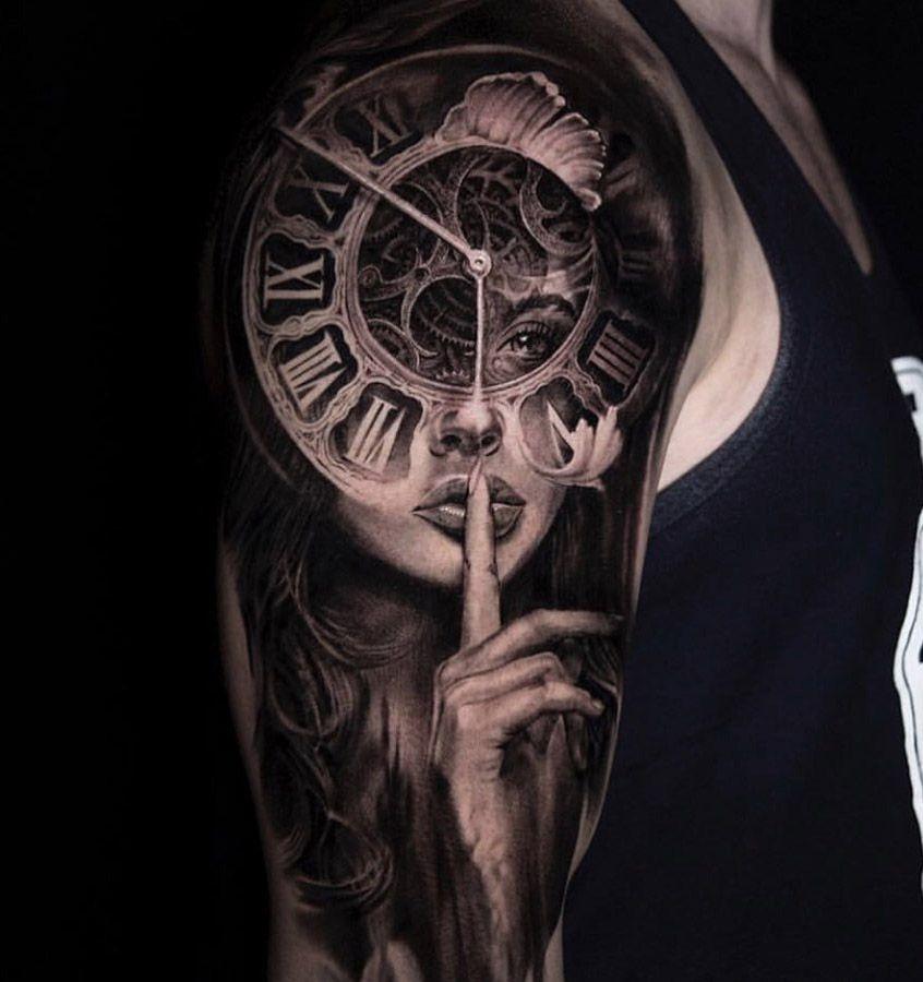 Portrait & Clock Face