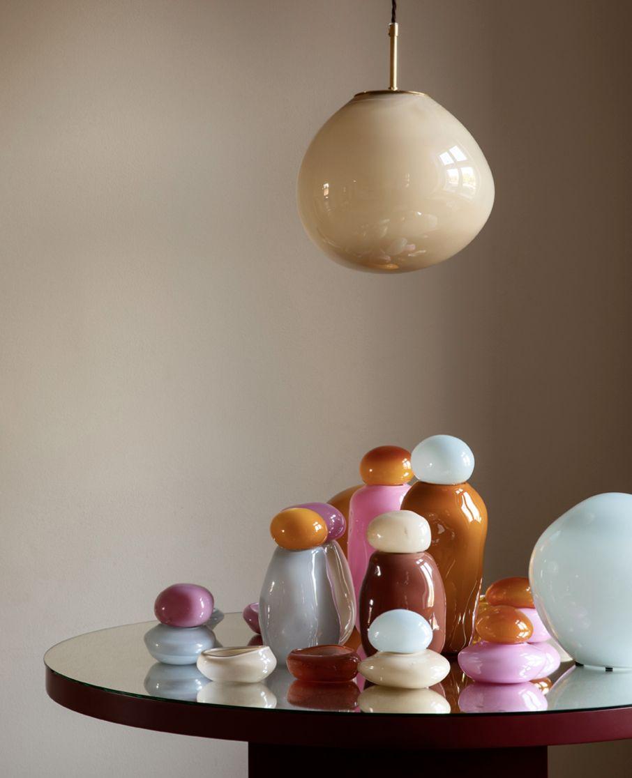 helle mardahl glass vases from denmark