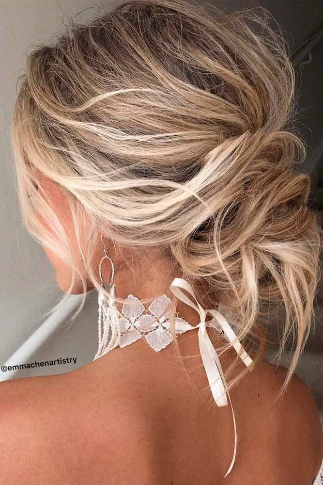 Easy Messy Knot For Every Day #knotshairstyles #messyhairstyles ★ Cute and easy shoulder length hairstyles for thin and for thick hair can be found here. These styles can work for adult women and for teens. #glaminati #lifestyle #shoulderlengthhairstyles