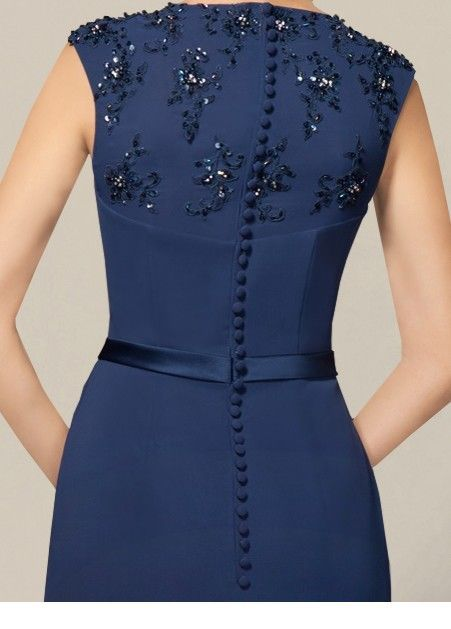 I like this navy dress back